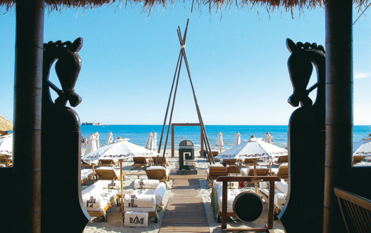 Restaurant de plage Jungle Beach au Cap d'Agde